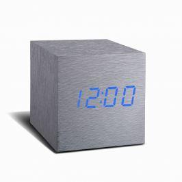Cube Click Clock szürke ébresztőóra kék LED kijelzővel - Gingko