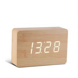 Brick Click Clock világosbarna ébresztőóra fehér LED kijelzővel - Gingko