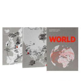 Transparent World felülírható világtérkép - Palomar