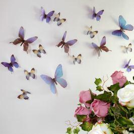 Butterflies kék 3D hatású 18 darabos öntapadós matrica szett - Ambiance