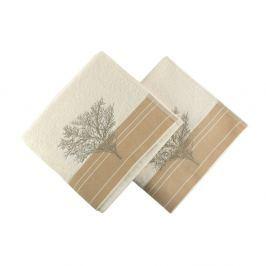 Infinity 2 darab krém színű pamut törölköző, 50 x 90 cm