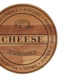 Broad Cheese bükkfa tálalódeszka/vágódeszka, 30 cm - Bisetti