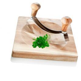 Mezzaluna zöldségaprító hintakés deszkával - MANUFACTURERani