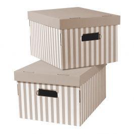 Stripes 2 darabos, bézs rakodó doboz szett- Compactor