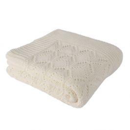 Cotton világosbézs, pamut takaró, 170 x 130 cm
