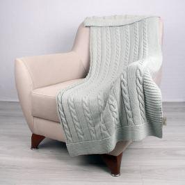 Carla mentolszínű, pamut takaró, 130 x 170 cm