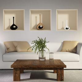 Vase 3 darabos matrica 3D hatással - Ambiance