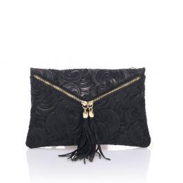 Silvia fekete bőr boríték táska - Lisa Minardi