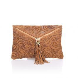 Silvia konyakbarna bőr boríték táska - Lisa Minardi