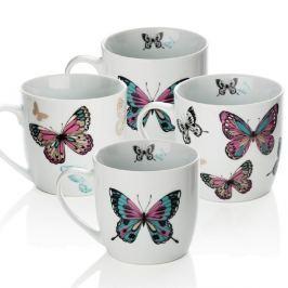 Mariposa 4 darabos porcelán bögre szett, 350 ml - Sabichi