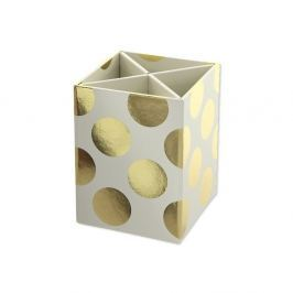 Gold Polka Cream tolltartó - GO Stationery