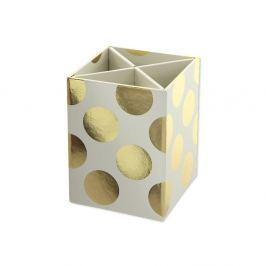 Gold Polka Cream tolltartó - GO Stationery
