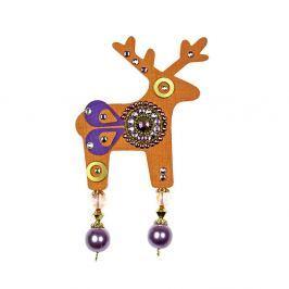 Benicio narancssárga bross, 7 cm - Deers
