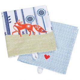 2 darab pamut konyhai törlőkendő - Folklore