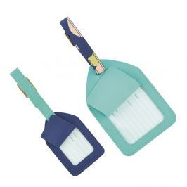 2 darabos kék poggyász kártya szett - Busy B