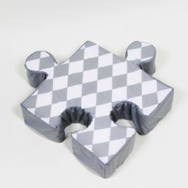 Puzzle Rhomb szürke kispárna - K-ITEM_ID