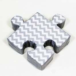 Puzzle ZygZag szürke kispárna - K-ITEM_ID