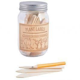 40 darabos fűszertartó üveg szett címkékkel - Esschert Design Pond