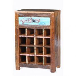 Racetrack bortároló szekrény, újrahasznosított fából - SOB