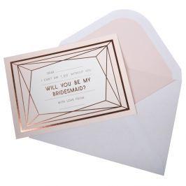 Geo blush 3 darabos meghívó borítékkal koszorúslányoknak - Neviti