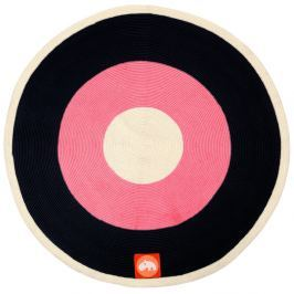 Rózsaszín-fekete szőnyeg, ⌀ 113 cm - Done by Deer