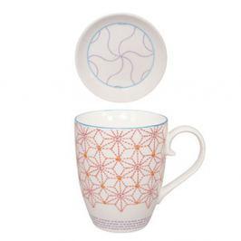 Mandarino csésze szűrővel és csészealjjal, 380 ml - Tokyo Design Studio