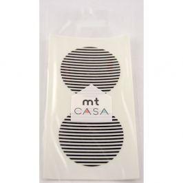 Casa 10 fekete-fehér washi matricát tartalmazó készlet - MT Masking Tape