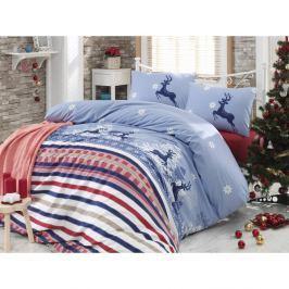 Christmas Melancholy egyszemélyes ágyneműhuzat garnitúra lepedővel, 160 x 220 cm