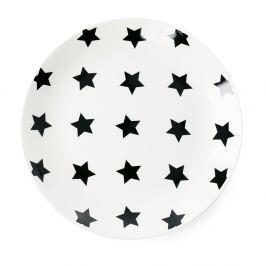 Black Stars kerámia tányér, ⌀ 17 cm - Miss Étoile