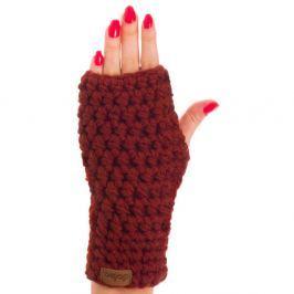 Marsala borvörös kézzel horgolt kesztyű - DOKE