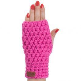 Hailey rózsaszín kézzel horgolt kesztyű - DOKE
