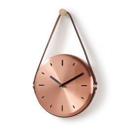 Wolly réz színű fali óra - La Forma