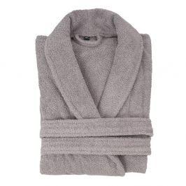 Világosszürke pamut fürdőköntös, XL/XXL - Casa di Bassi