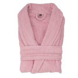 Régi rózsaszín pamut fürdőköntös, XL/XXL - Casa di Bassi