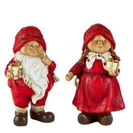 Pixie 2 darabos karácsonyi dekorációs figurák - KJ Collection