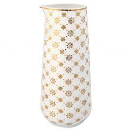 Laurie fehér kancsó arany díszítéssel, 700 ml - Green Gate