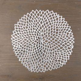 Winter ezüstszínű kerek terítő - InArt