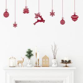 Scandinavian Christmas 8 darabos karácsonyi falmatrica - Ambiance