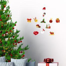 Christmas decorations 12 darabos karácsonyi matrica készlet - Ambiance