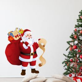 Santa Claus and Gift List karácsonyi falmatrica - Ambiance