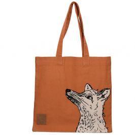 Wild Fox narancssárga vászontáska - Creative Tops