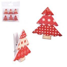 6 darabos karácsonyfa motívumos csipesz - Unimasa