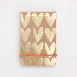 Kraft Gold Hearts füzet - Caroline Gardner