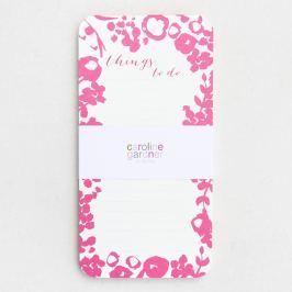 Mono Ditsy rózsaszín-fehér jegyzettömb - Caroline Gardner