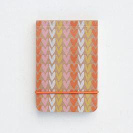 Hearts Stripe Little narancssárga füzet - Caroline Gardner