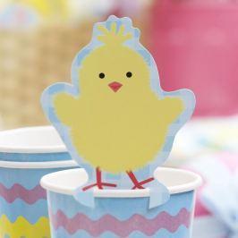 Easter Chick 10 darab pohárdísz papírból - Neviti