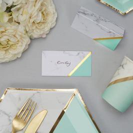Mint Colour Block Marble 10 darab névkártya papírból - Neviti