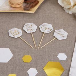 Scripted Marble Picks 20 darab díszített fogpiszkáló - Neviti