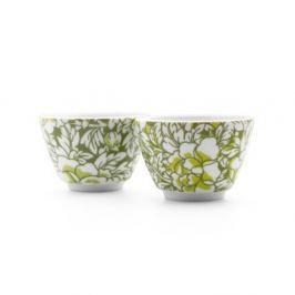 Yantai zöld porcelán teáscsésze, 2 darab - Bredemeijer