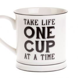 Take Life One Cup At A Time bögre - Sass & Belle